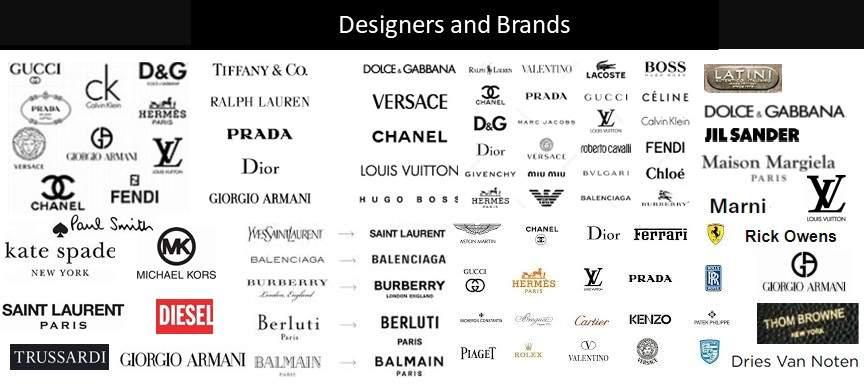 Designer and Brand Logos