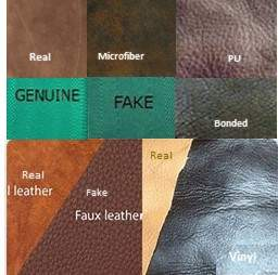 Real Leather vs Fake leather Samples