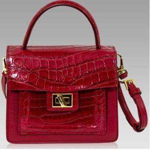 Real Crocodile Italian Leather Handbag