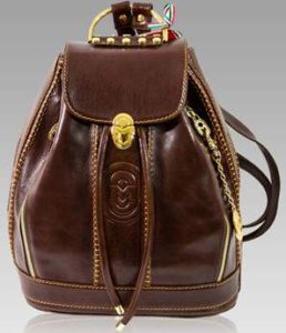 Vegetable Tanned Italian Leather Backpack