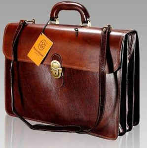Vegetable Tanned Italian Leather Briefcase