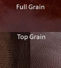 Top Grain vs Full Grain Sample